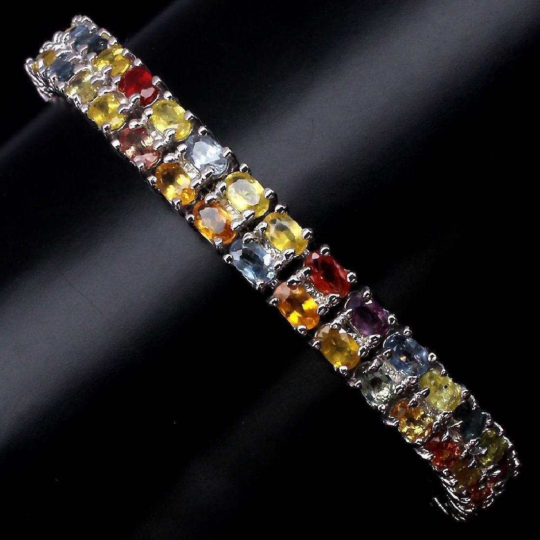 Natural Fancy Sapphire 150 Carats Bracelet