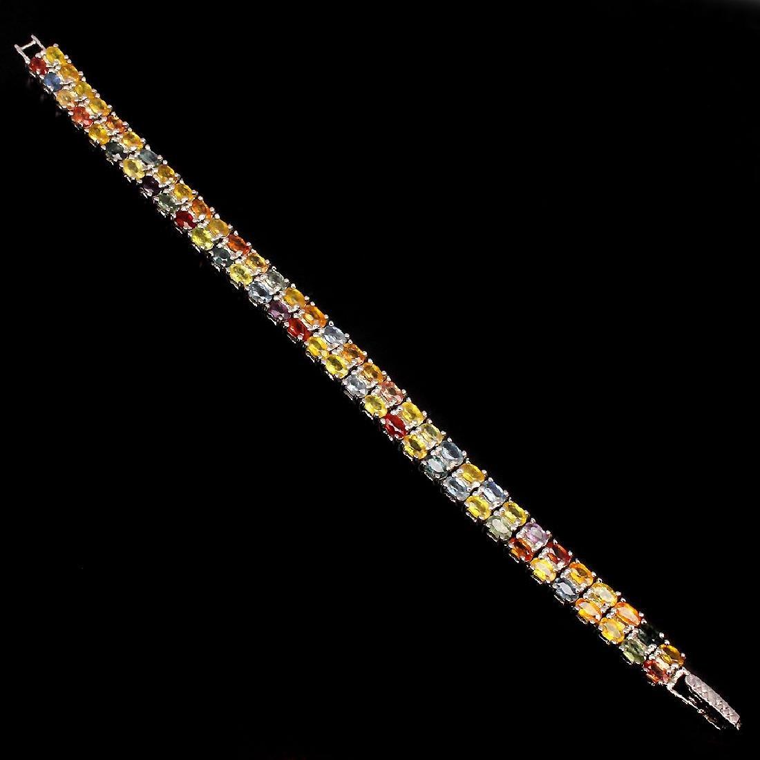 Natural Fancy Sapphire 150 Carats Bracelet - 2