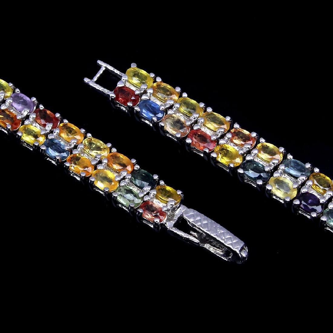 Natural Fancy Sapphire 150 Carats Bracelet - 3