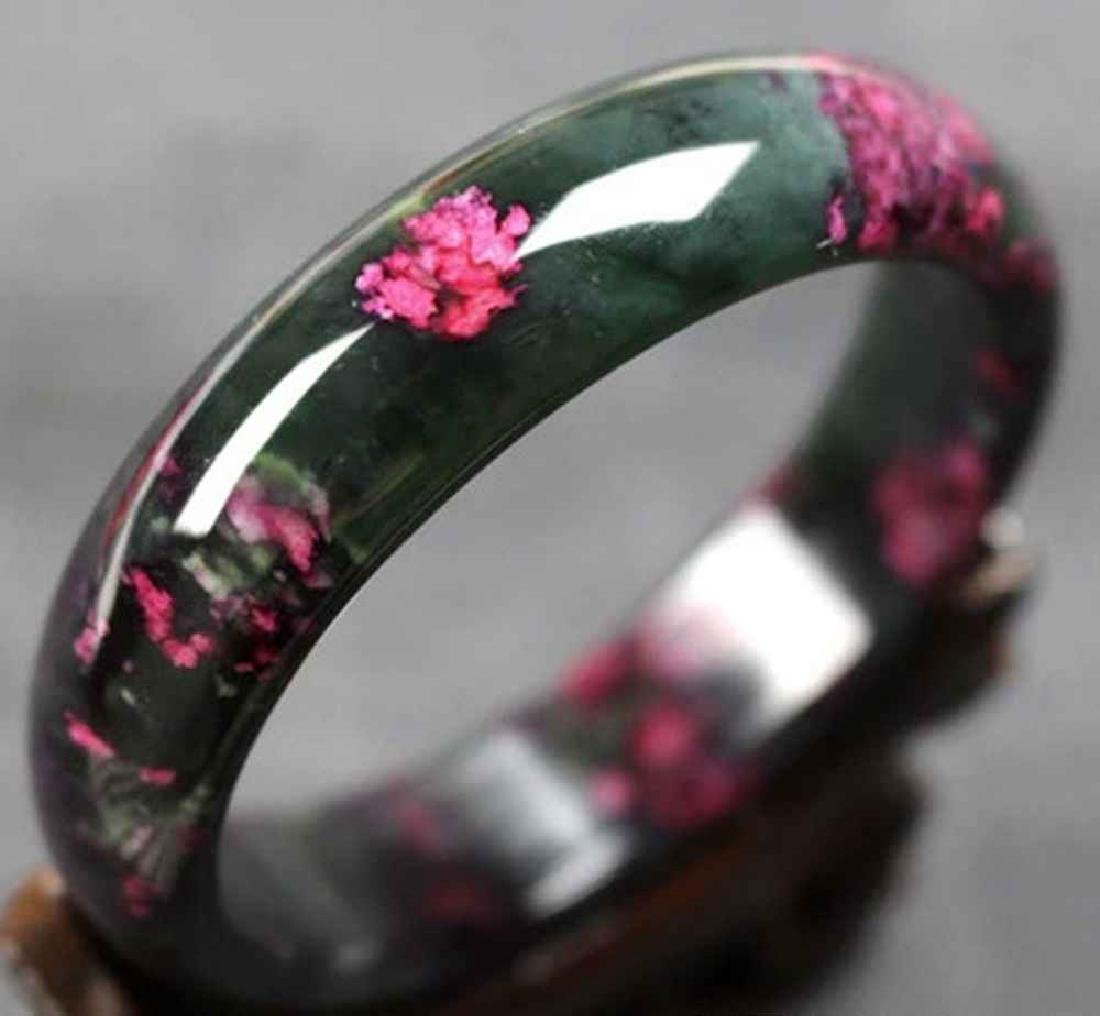 Natural Chinese Jade Floral Bracelet/Bangle