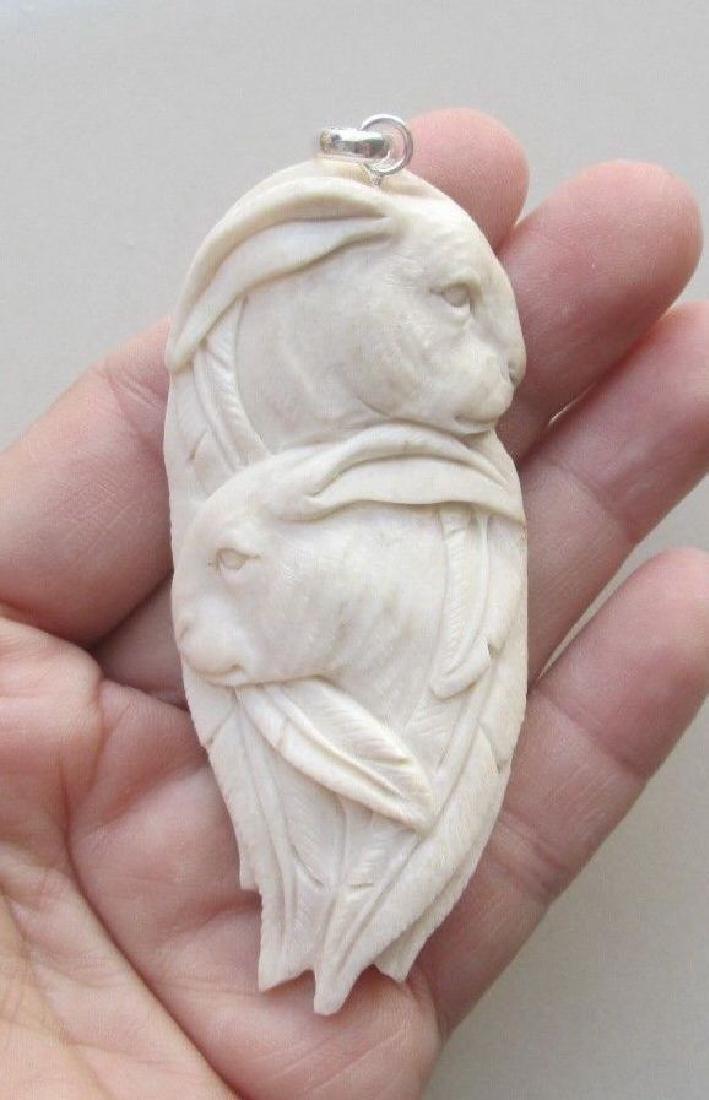 Hand Craved Rabbit Pendant