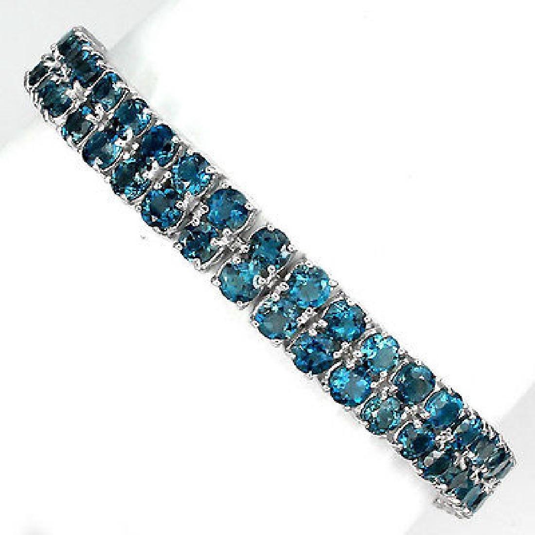 Stunning London Blue Topaz Bracelet