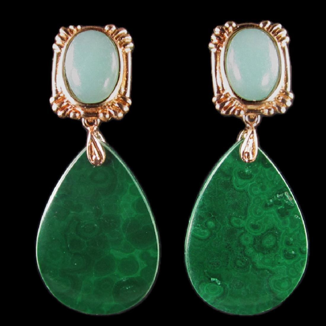 Natural Stone Diamond Polished Earings