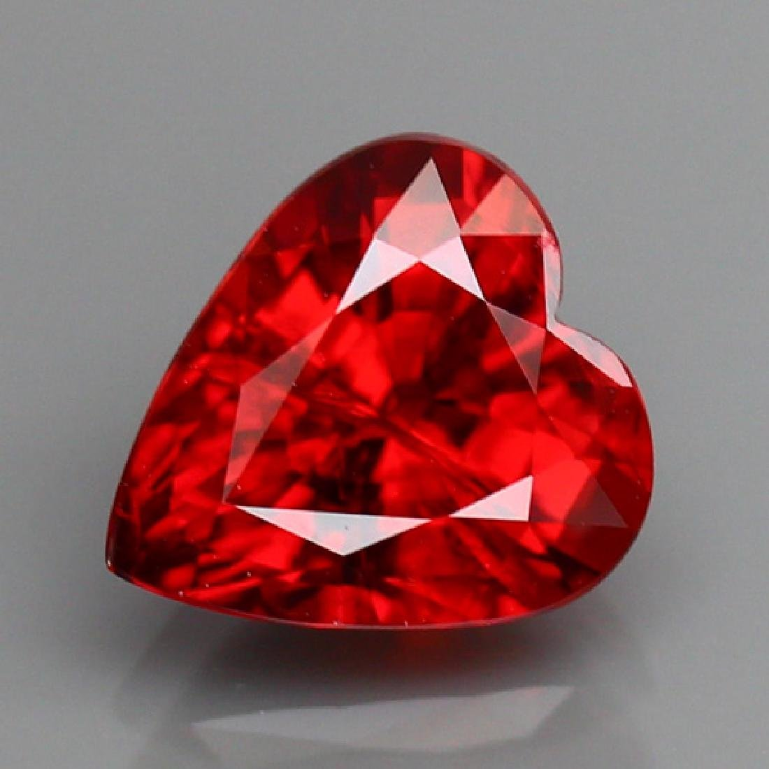 Natural Red Spessartite Garnet Heart 2.36 cts