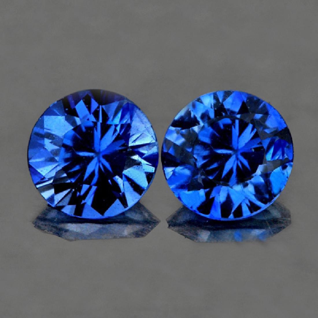 Natural Royal Blue Kashmir Sapphire Pair 3.50 MM