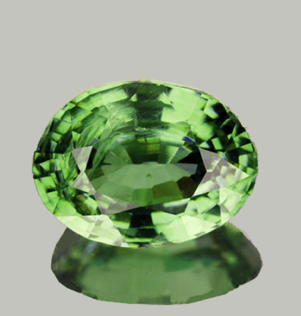 Natural Green Sapphire  Oval 6 x 5 MM {SI}