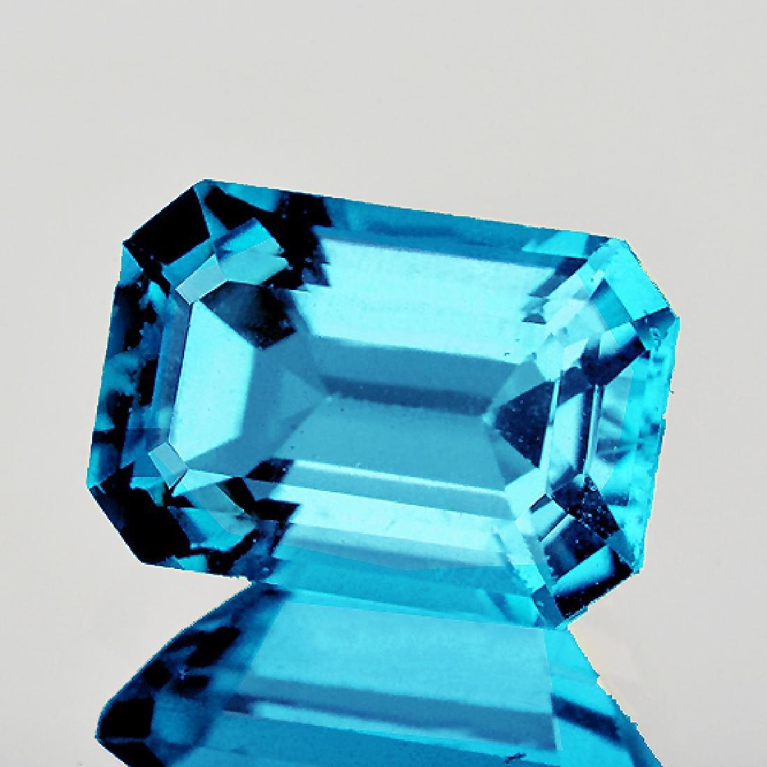 Natural Top Color Seafoam Blue Zircon 3.48 Ct{Flawless}