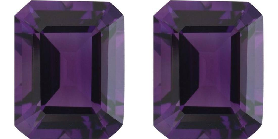 Natural Purple Amethyst Pair 10.01 Carats - VVS