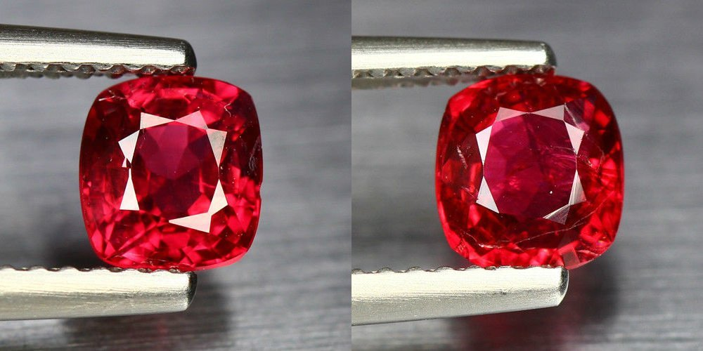 Natural Burma Red Spinel Pair 1.76 Cts - Untraeted