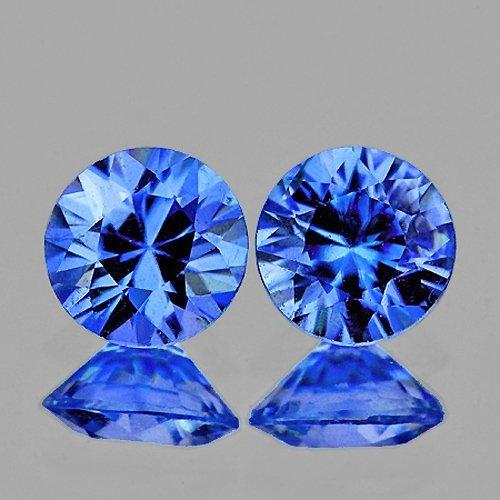 Natural  Blue Kashmir Sapphire Pair 3.80 MM