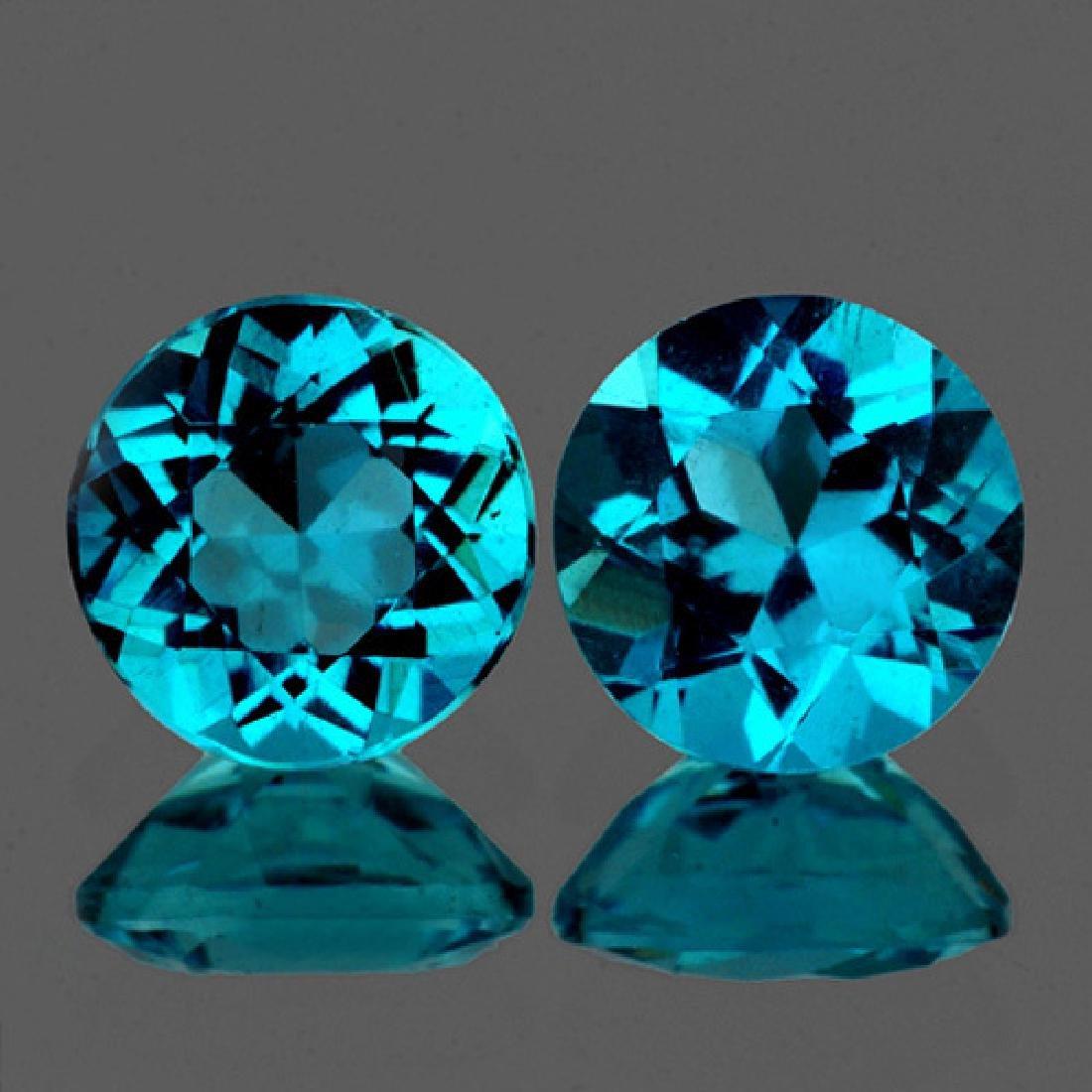 Natural Brazil  Greenish Blue Apatite 5.00 MM - VVS