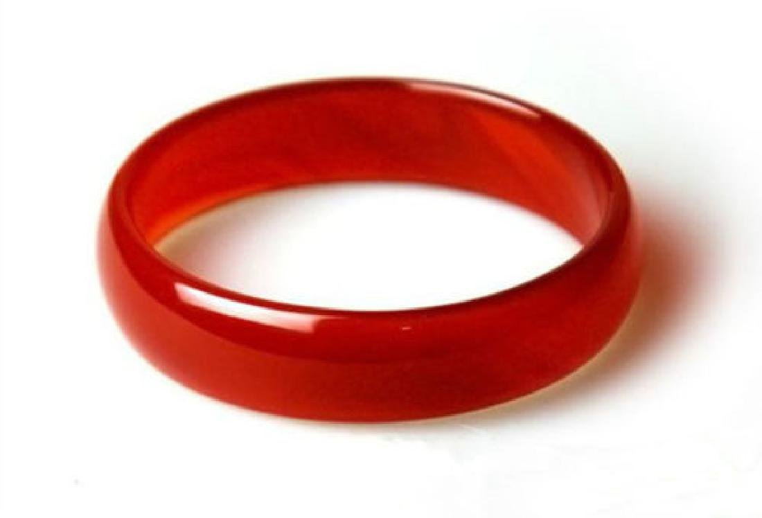 Natural Chinese Red Jade Bangle