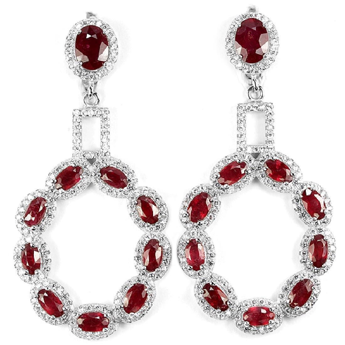 GENUINE AAA BLOOD RED RUBY Earrings