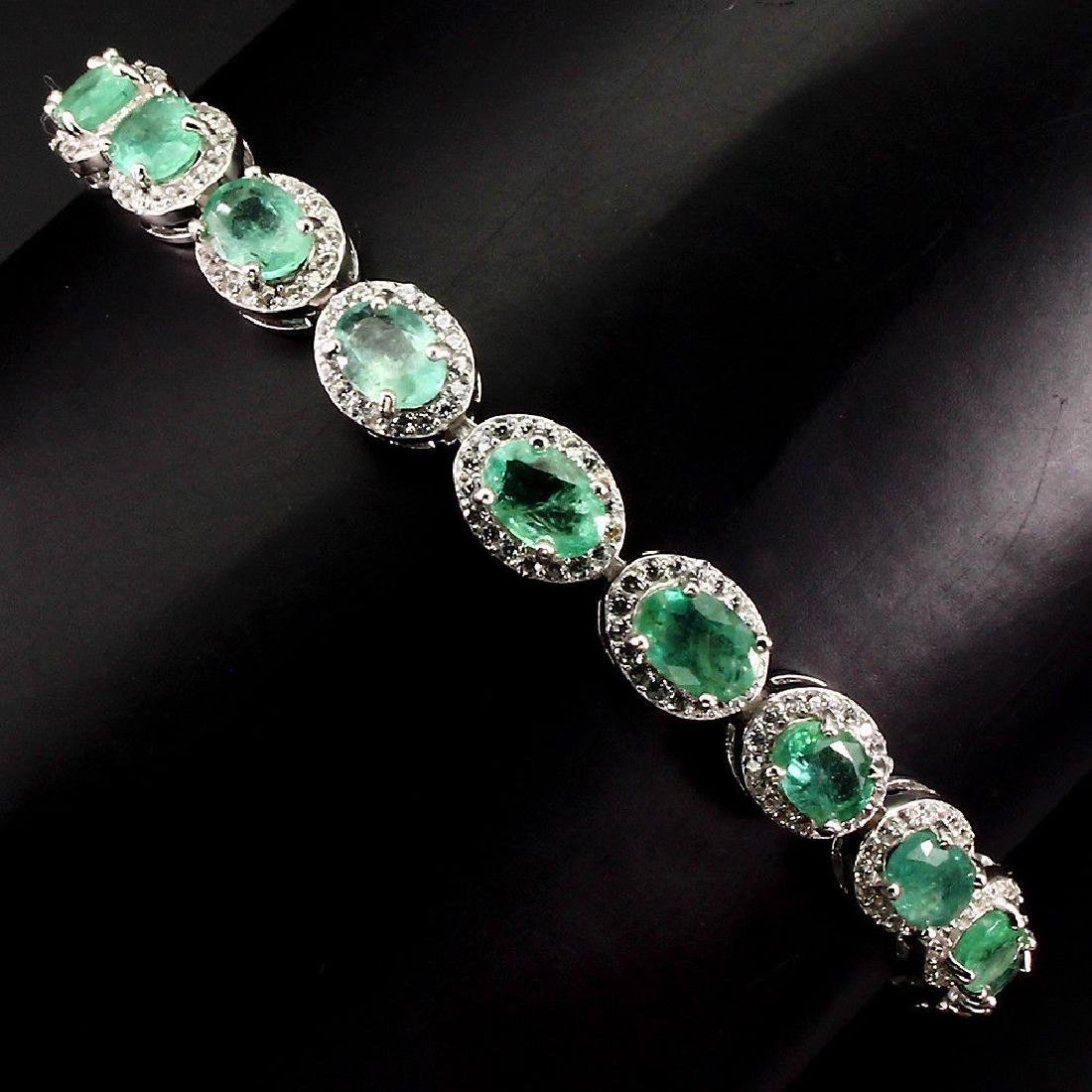 Natural  Green Emerald 56.43 Cts Bracelet