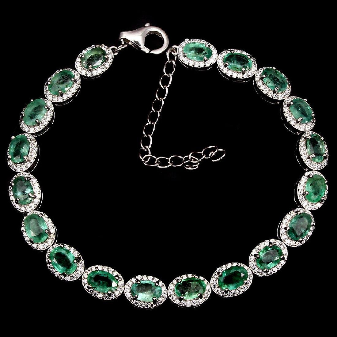Natural  Green Emerald 56.43 Cts Bracelet - 2