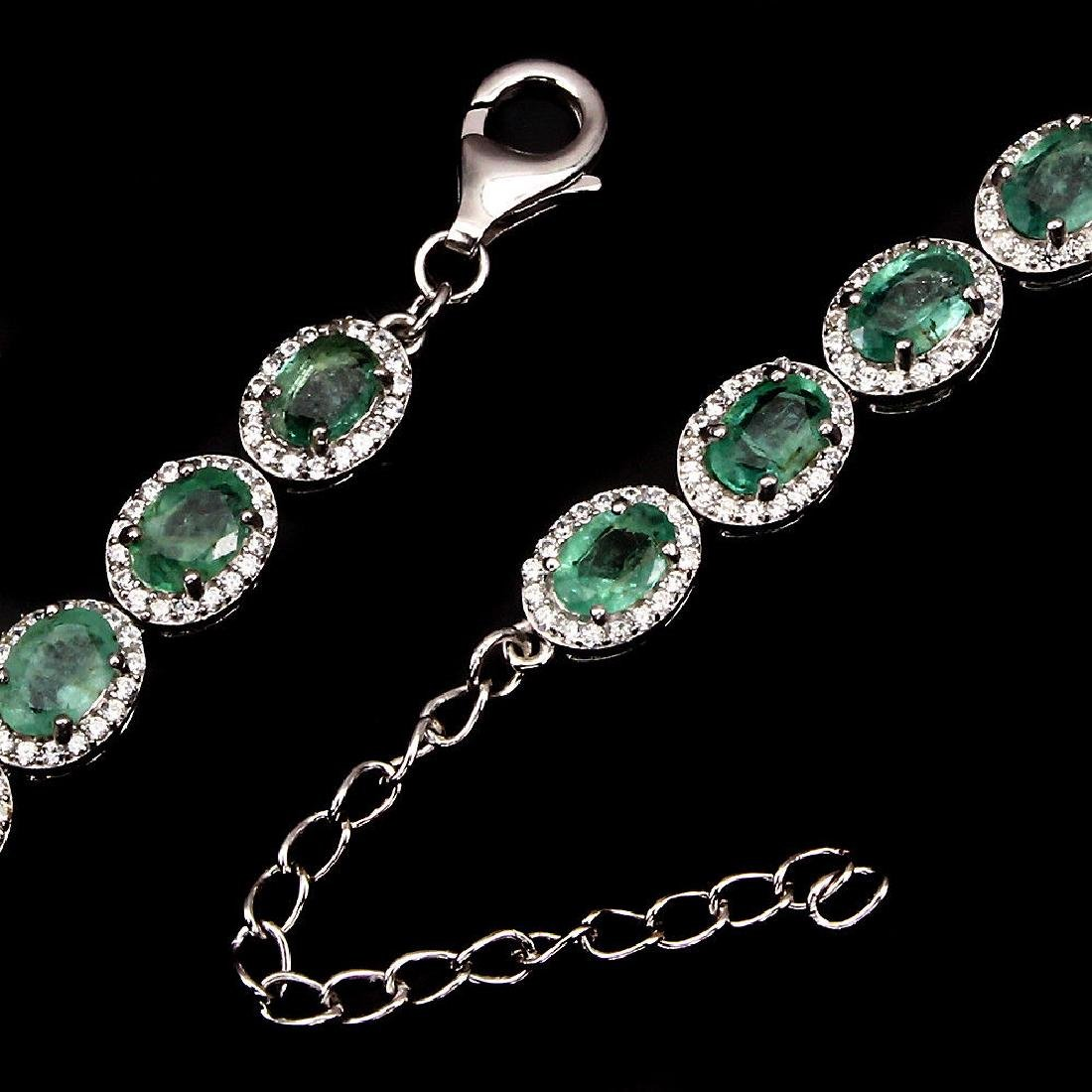 Natural  Green Emerald 56.43 Cts Bracelet - 3