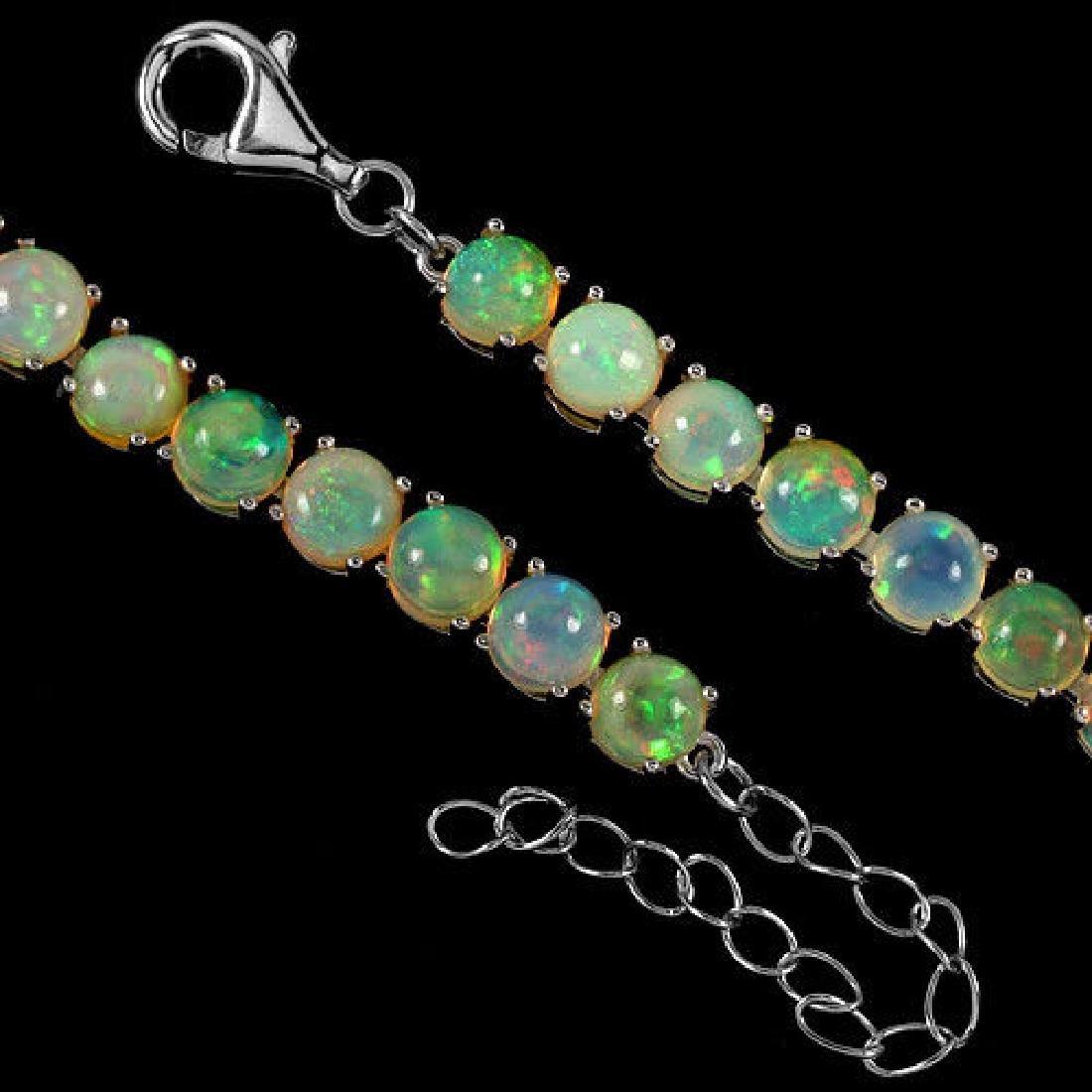 NATURAL AAA RAINBOW WHITE OPAL Bracelet - 3
