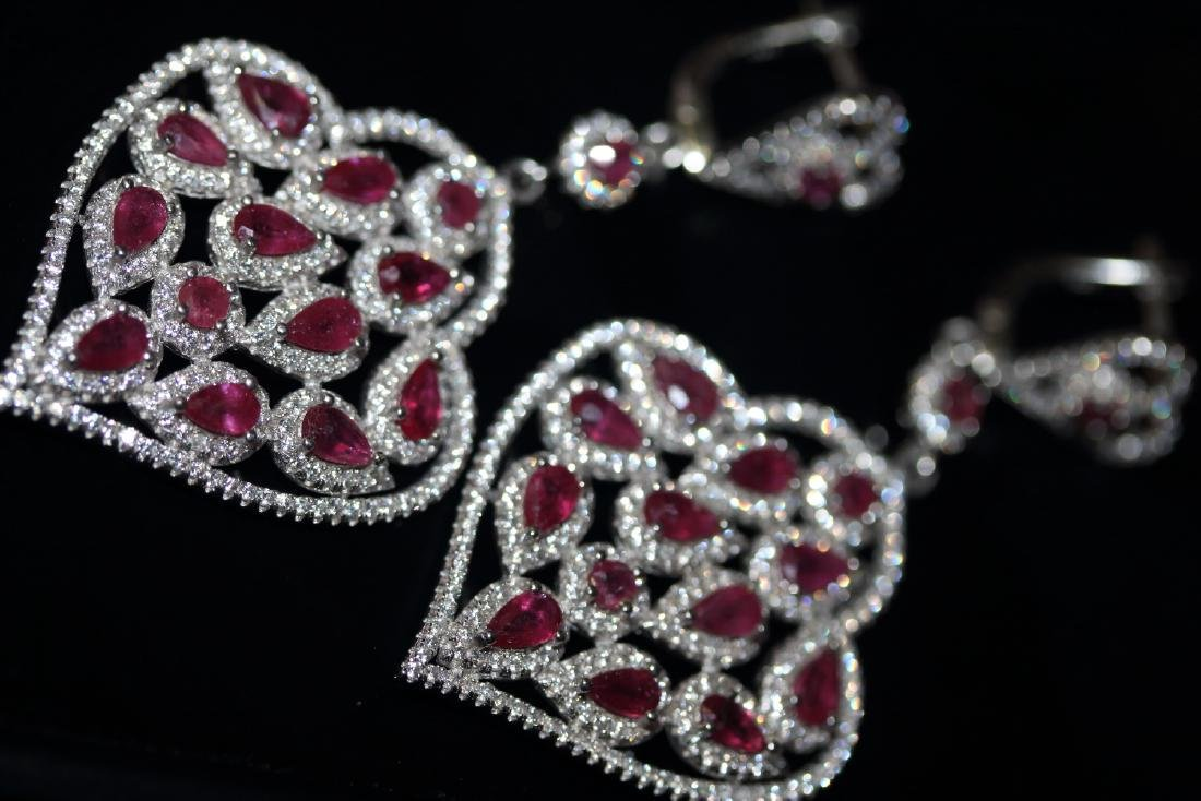 Natural Red Ruby Earrings ( Heavy)