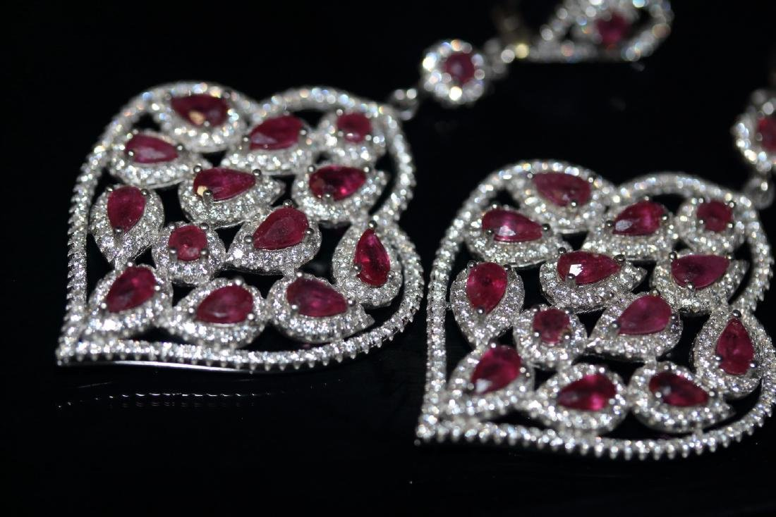 Natural Red Ruby Earrings ( Heavy) - 2