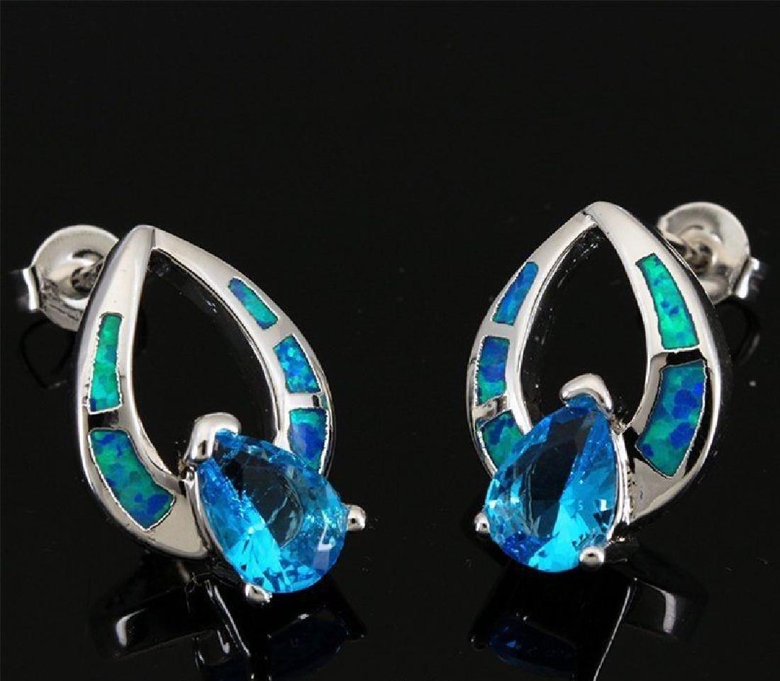 Stunning Opal & Natural Swiss Topaz Earrings