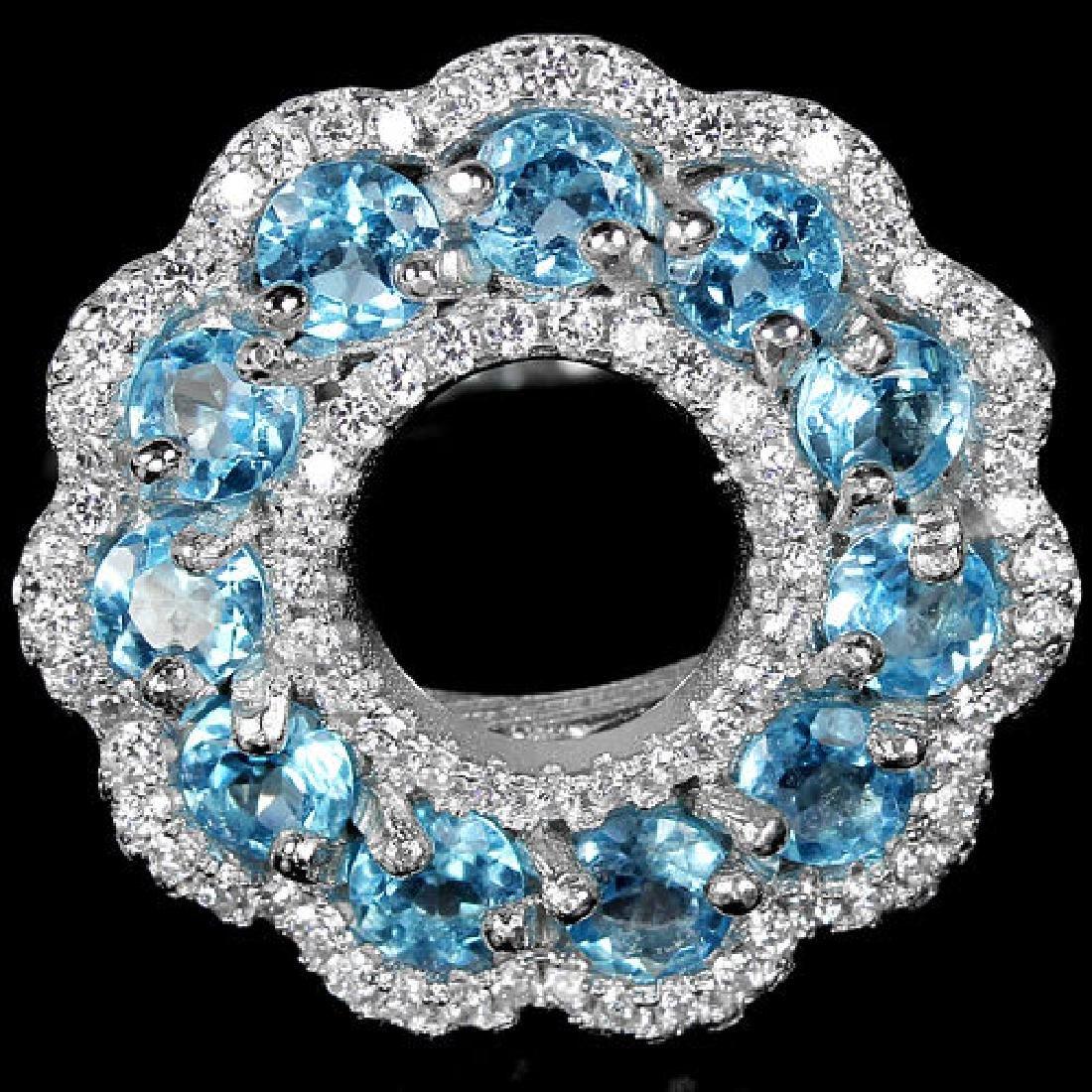 Natural Swiss Blue Topaz Ring