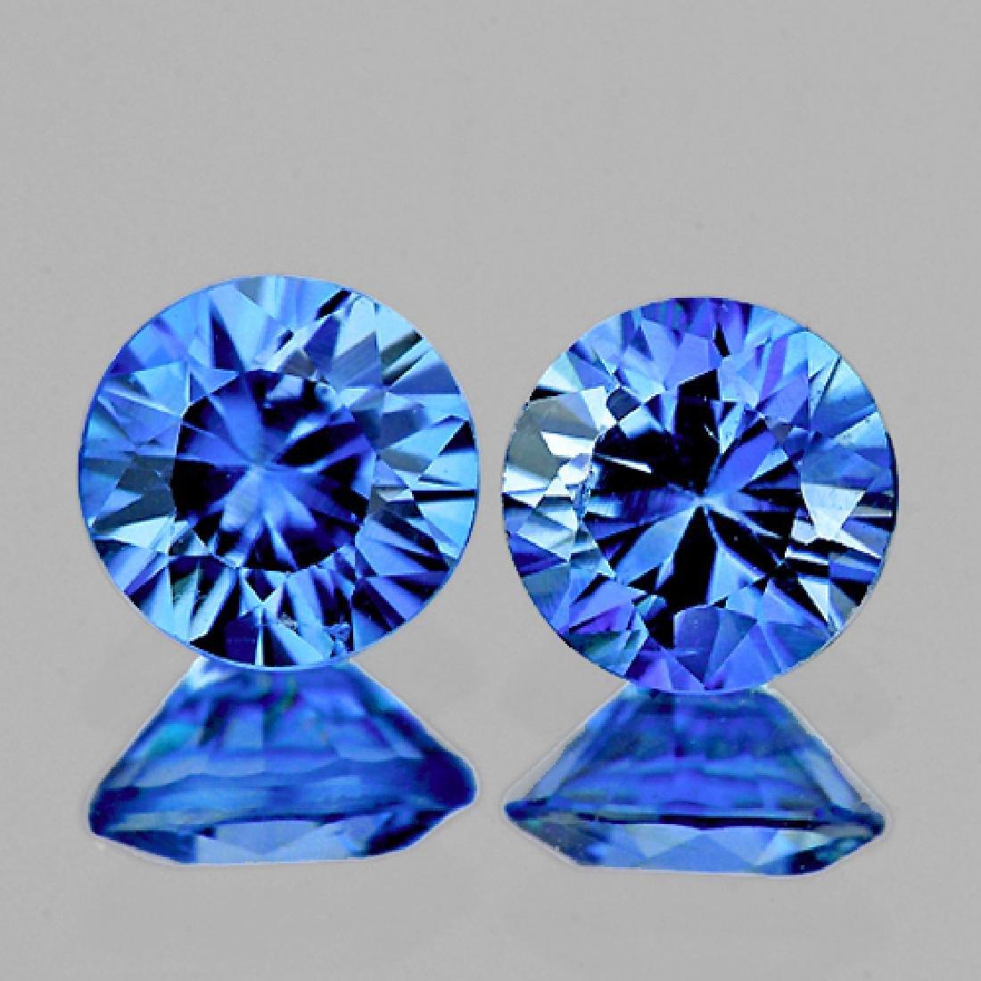 Natural Kashmir Blue Sapphire Pair 3.60 MM - FL
