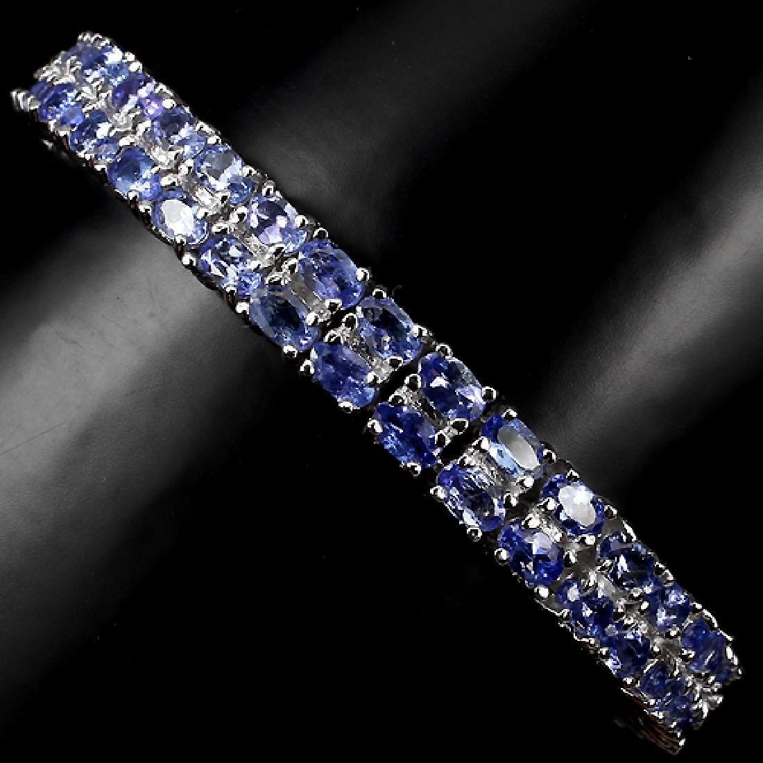 Natural Tanzanite 7 Inch Bracelet