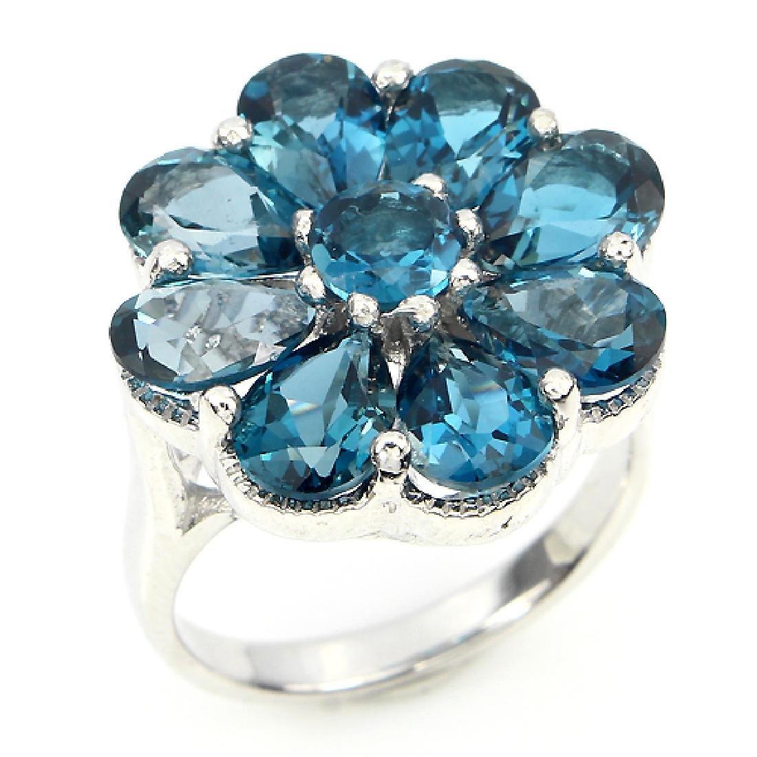 Natural London Blue Topaz Ring - 2