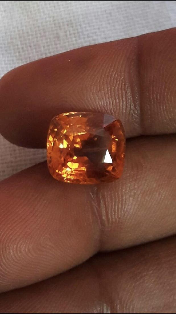 Natural Vivid Orange Sapphire 9.52 Ct - Untreated