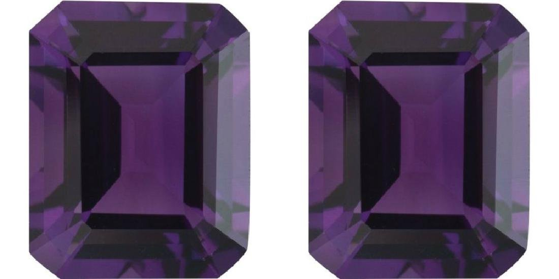 Purple Amethyst Pair 10.01 Carats - VVS