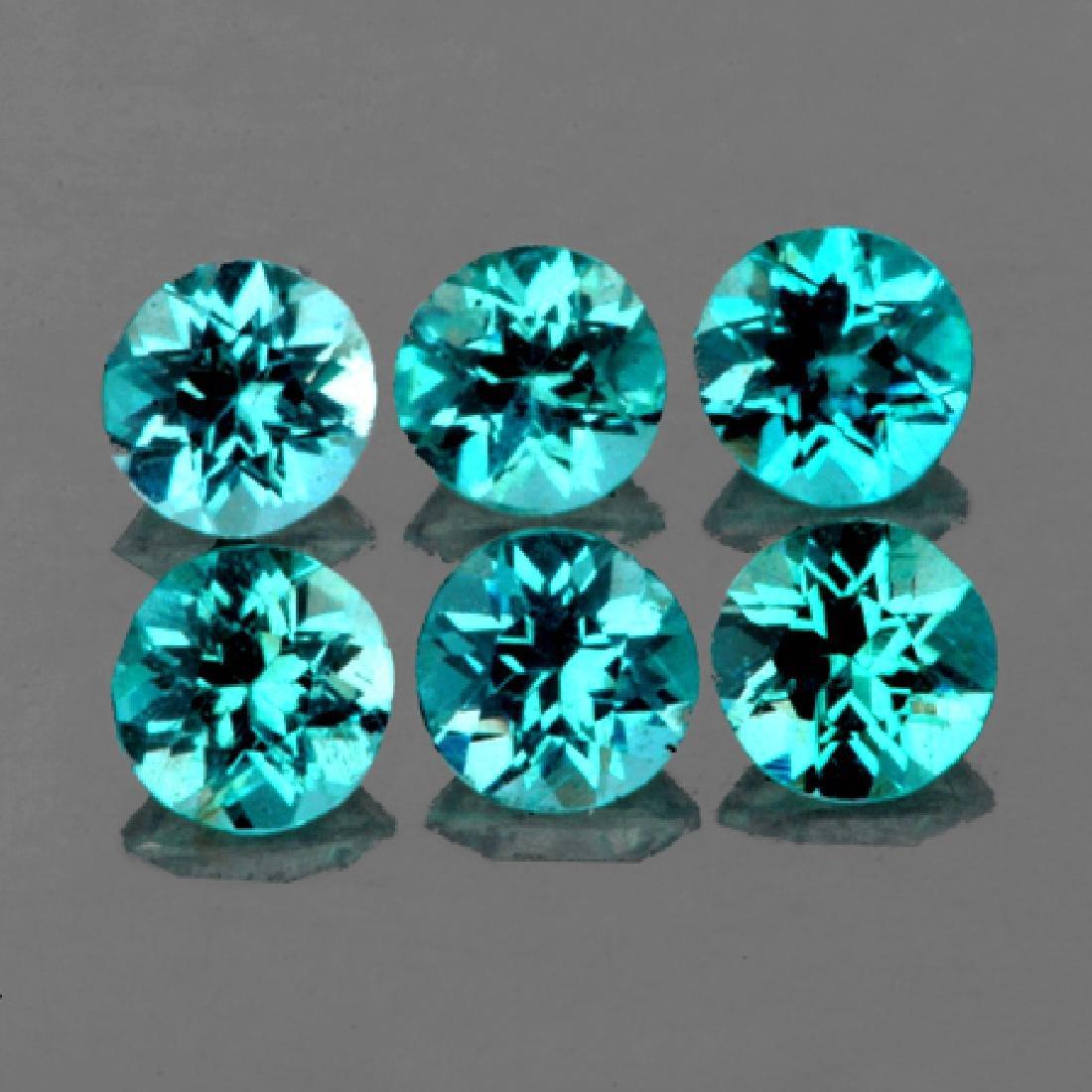 Natural  Brazil Greenish Blue Apatite 4.30 MM -VVS1