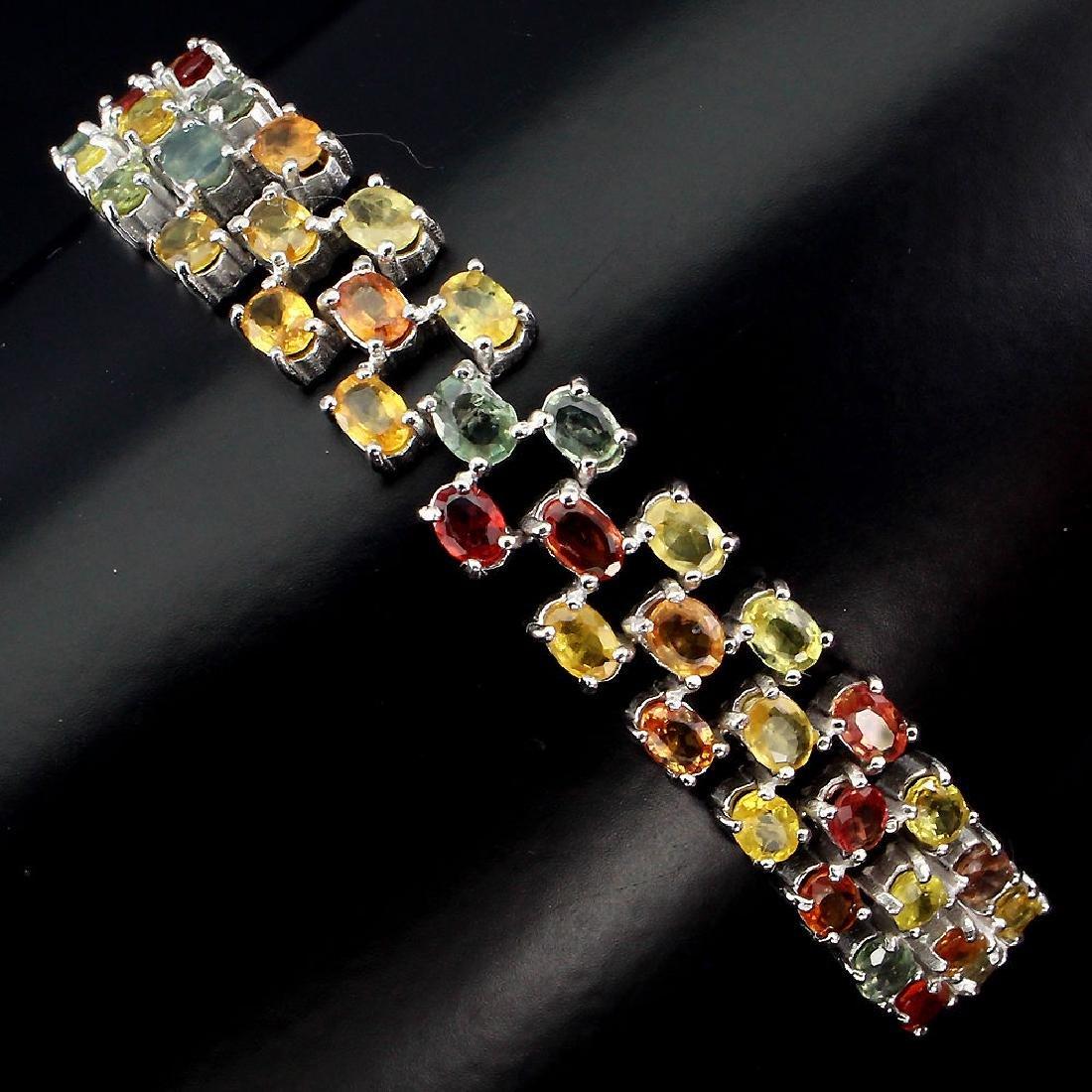 Natural Fancy Sapphire 120 Carats Bracelet