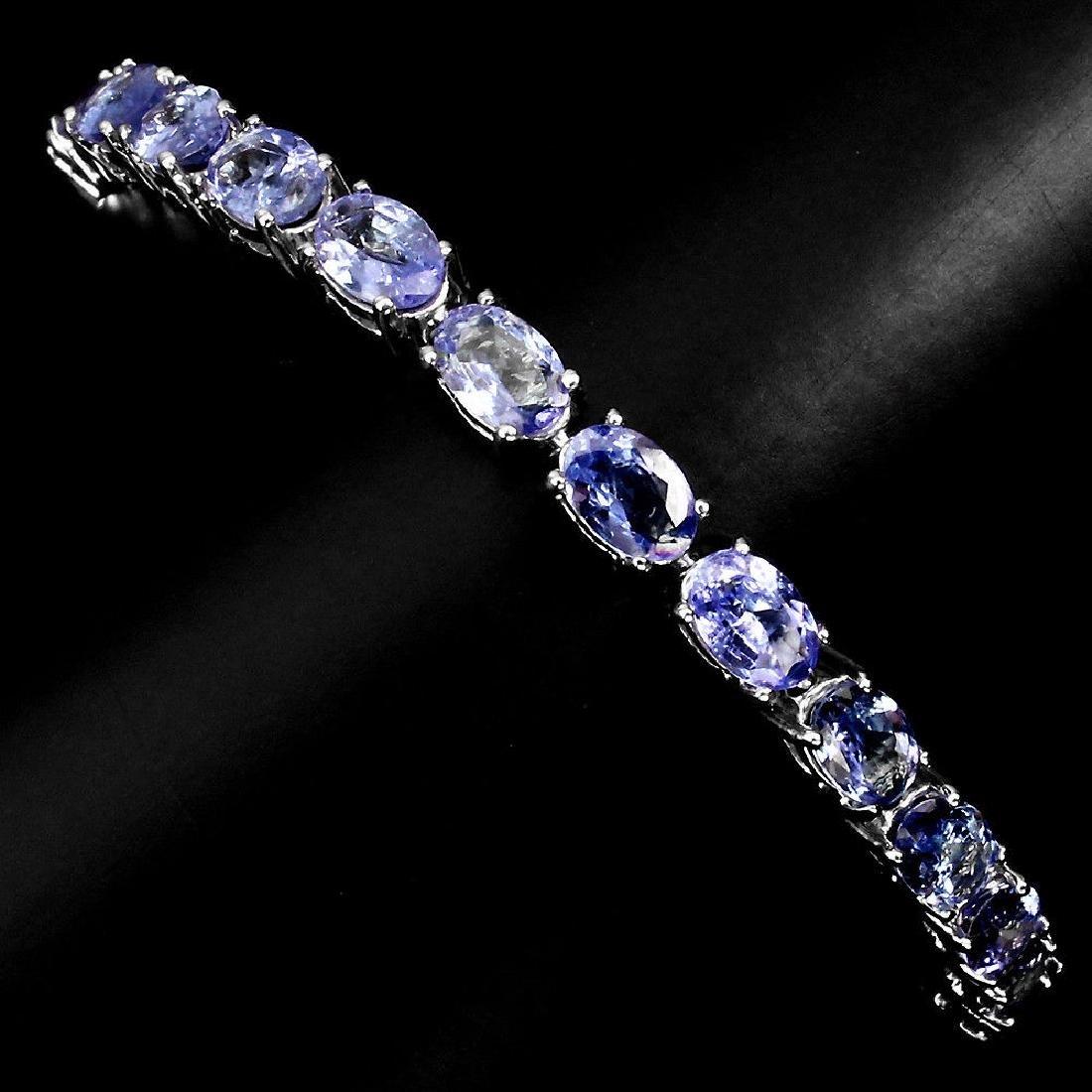 Natural  Blue Violet Tanzanite  Bracelet