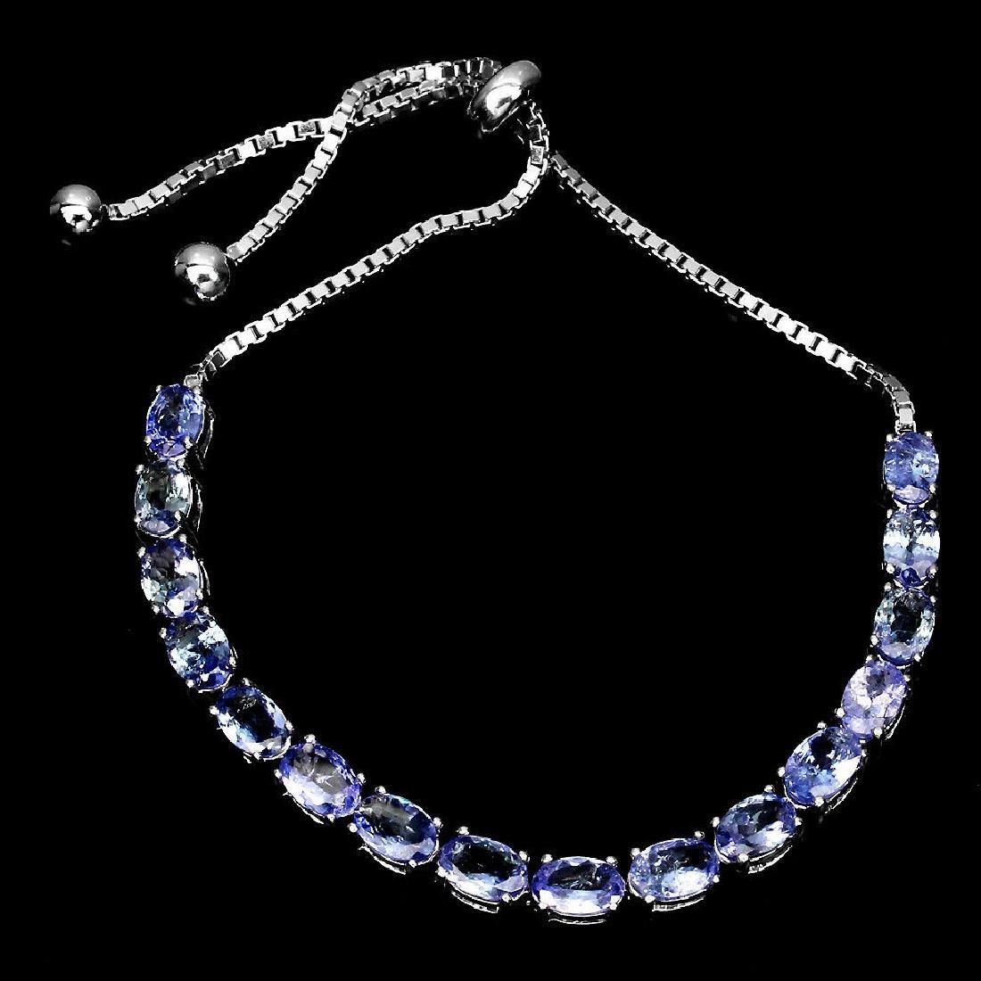 Natural  Blue Violet Tanzanite  Bracelet - 2