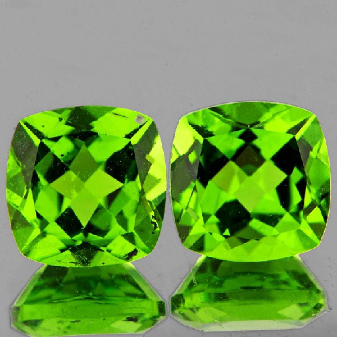 Natural Cushion Green Peridot Pair 8.00 MM - VVS