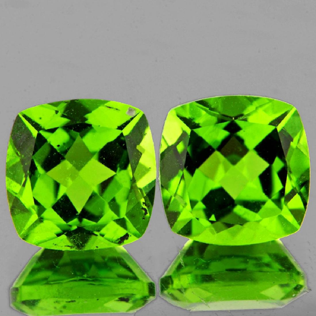 Natural Cushion Green Peridot Pair 8.00 MM - VVS