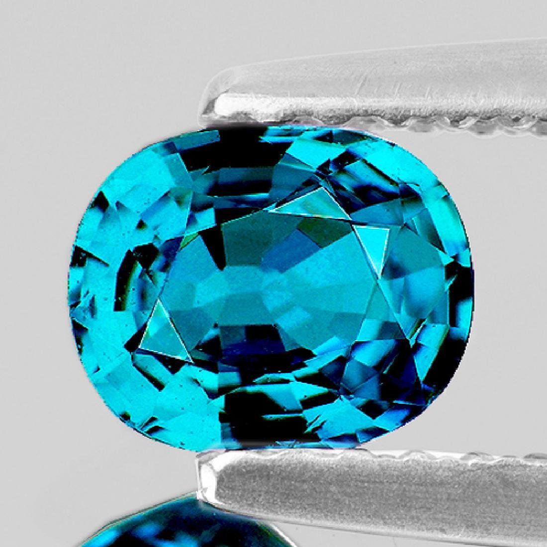 Natural Top  Electric Blue Zircon 4.27 Ct - Flawless
