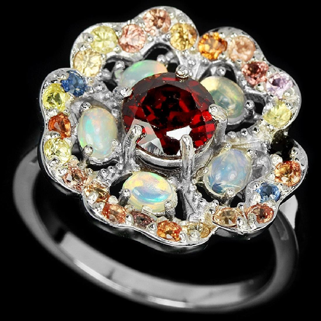 Natural Opal & Multi Gem Ring