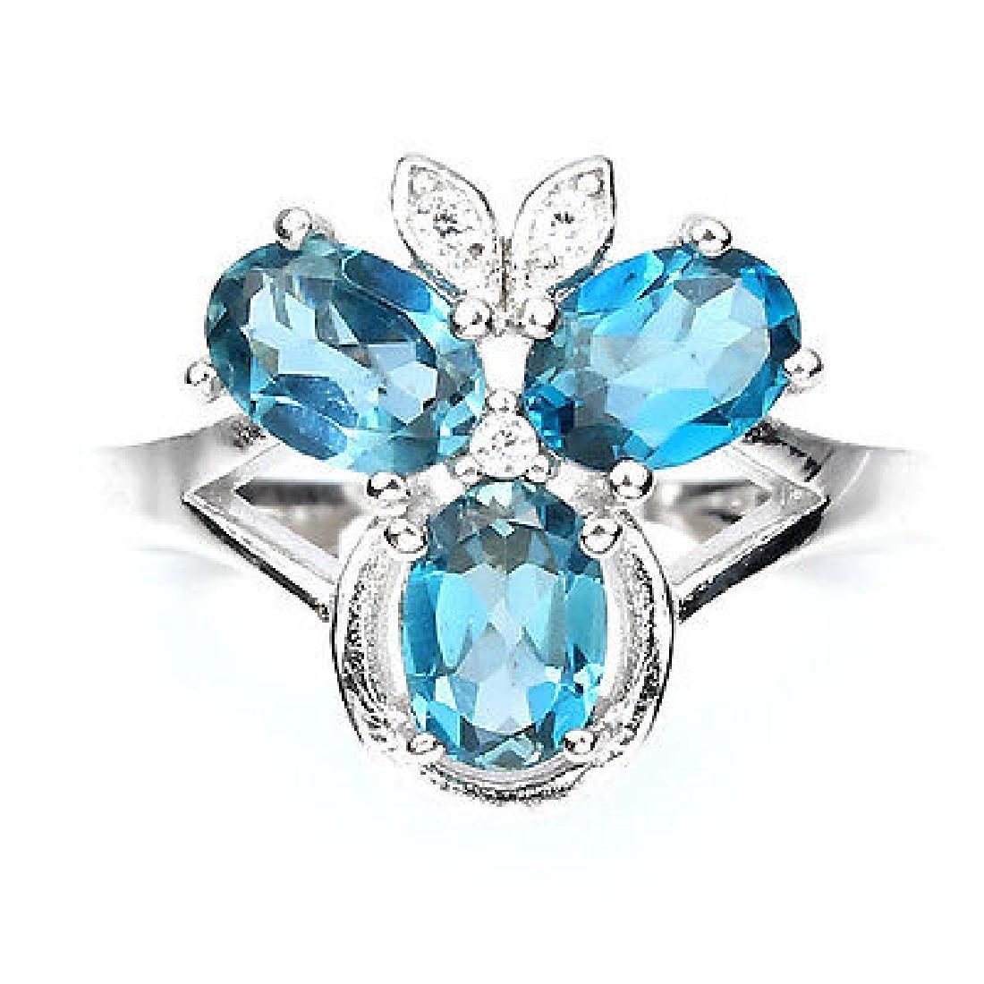 Natural London Blue Topaz Ring