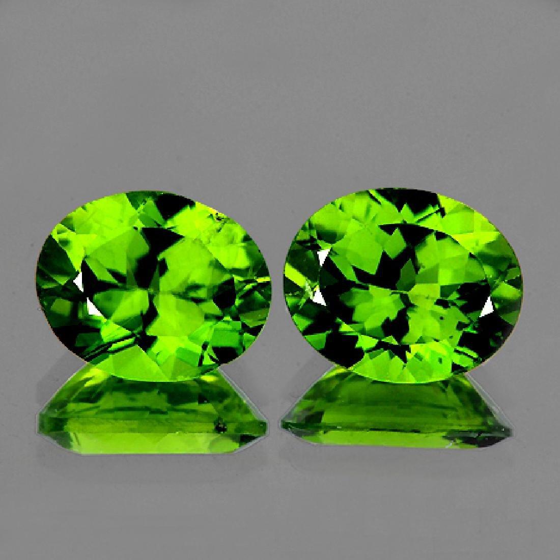Natural Green Peridot Pair 10 x 8 MM {Flawless-VVS1}