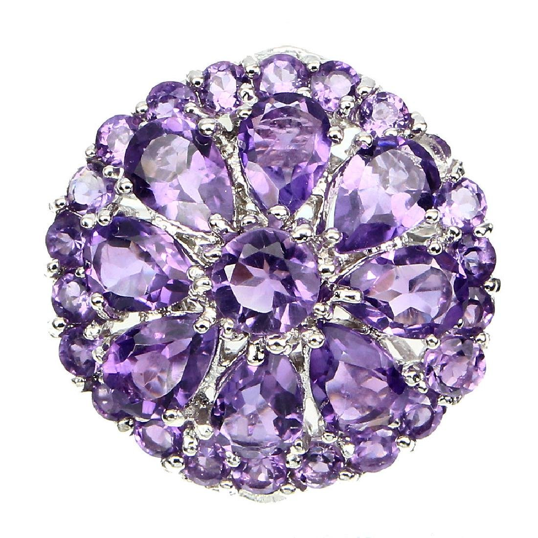Natural Purple Amethyst 30.75 Cts Ring
