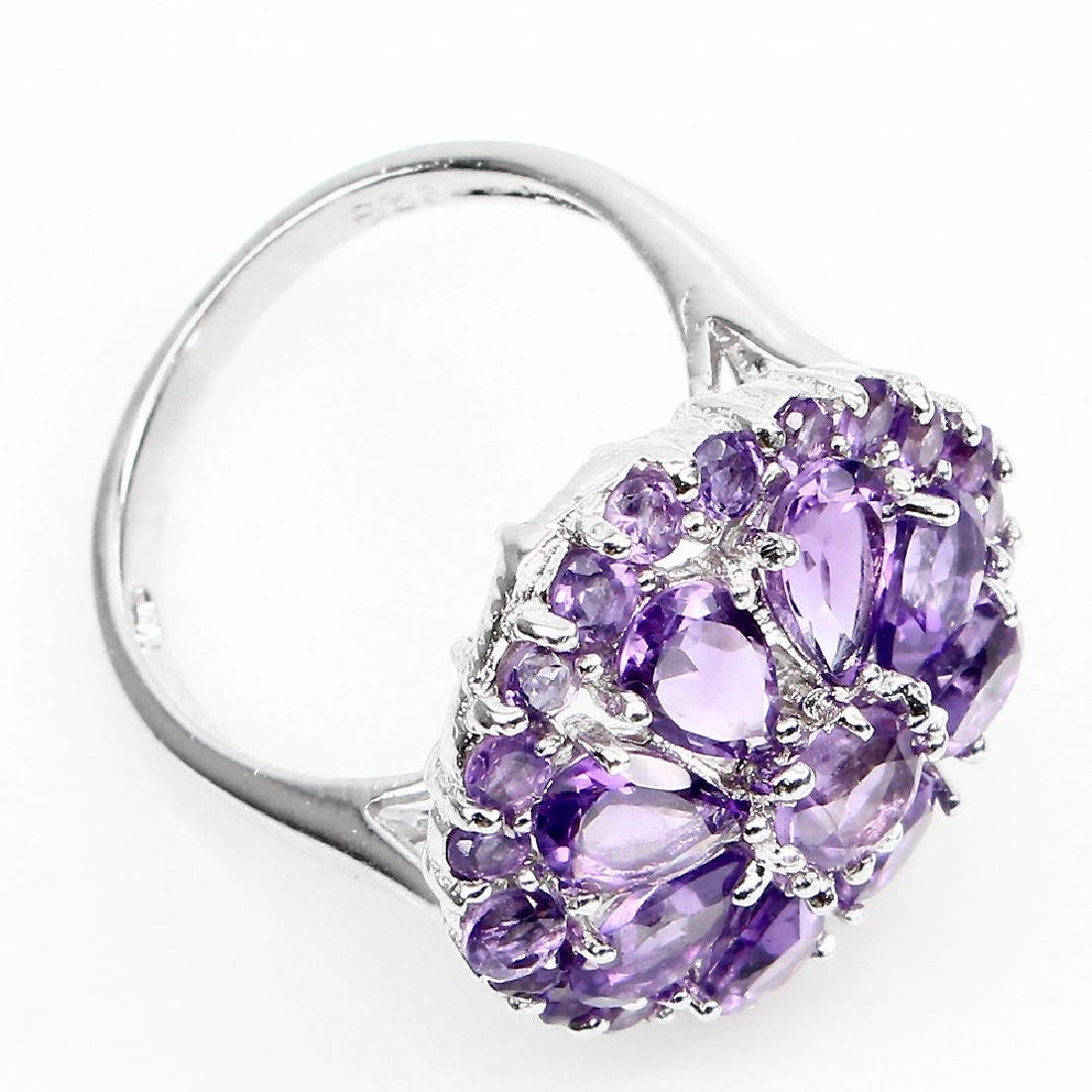 Natural Purple Amethyst 30.75 Cts Ring - 2