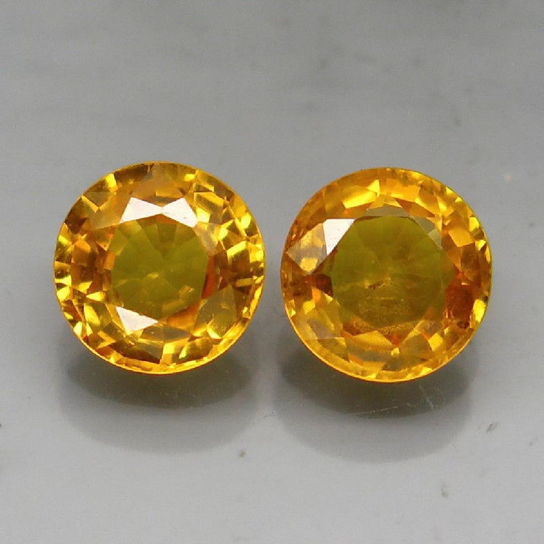 Natural Yellow Sapphire Pair 5.1 MM