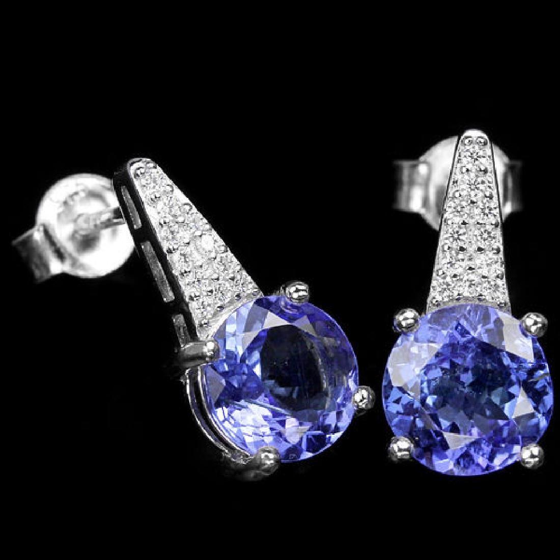 Natural Tanzanite Gemstone Earrings