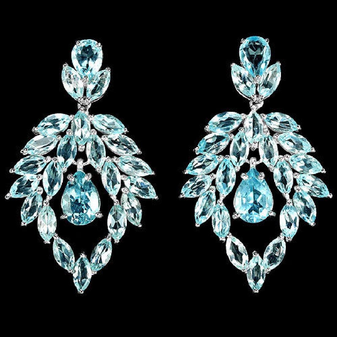 Natural AAA SKY BLUE TOPAZ Earrings