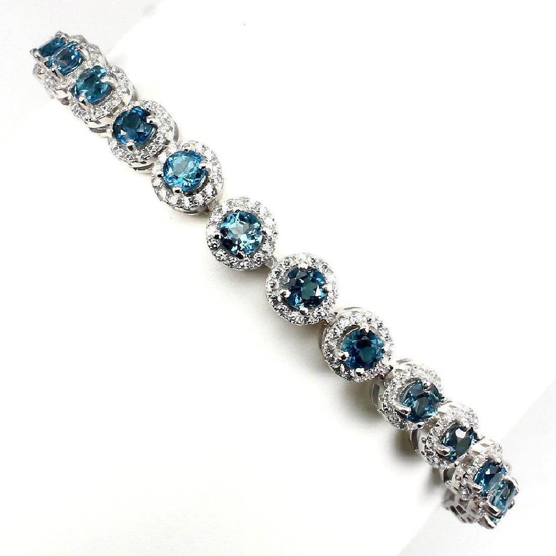 Natural London Blue Topaz 74 Carats Bracelet