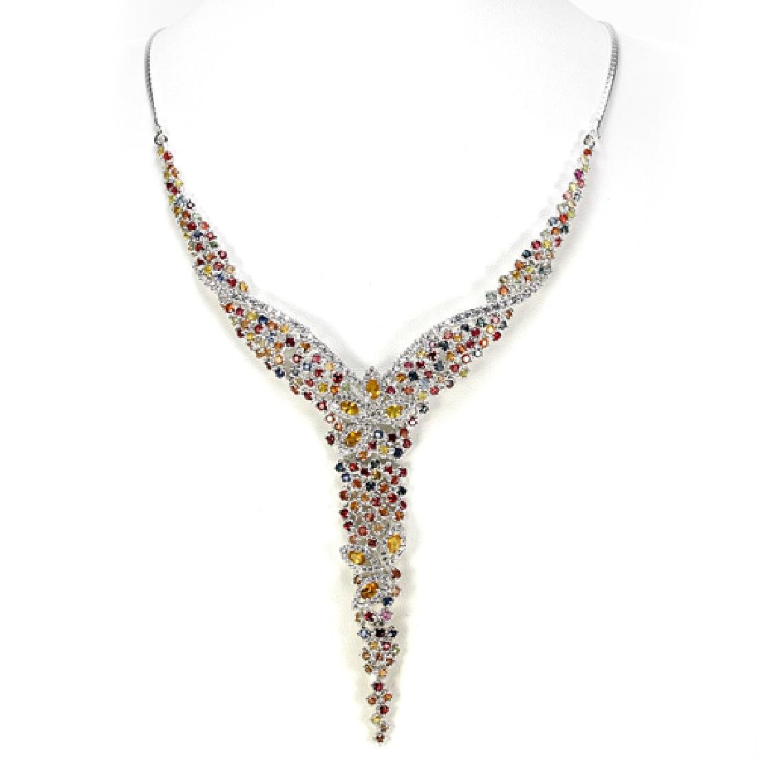 Natural Multi Color Sapphire Necklace