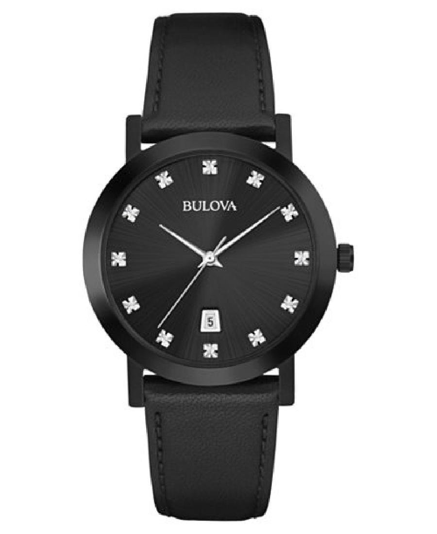 Bulova All Black Natural Diamond Watch