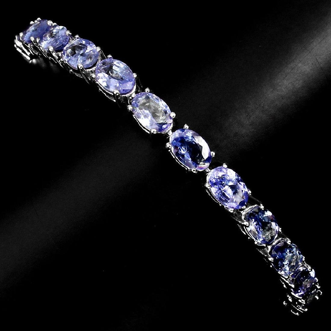 Natural Blue Violet Tanzanite Bracelet