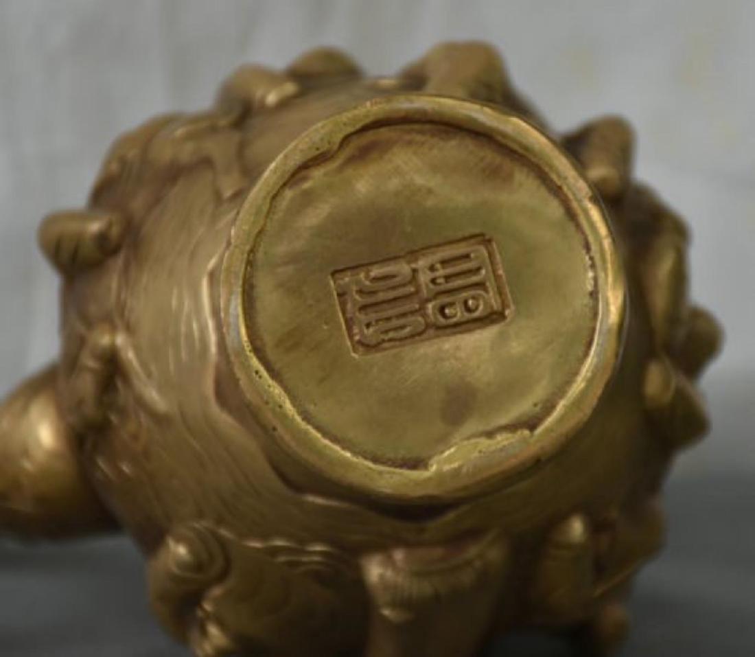 Chinese Brass 8 Immortals Wine Tea/ Wine Pot - 8